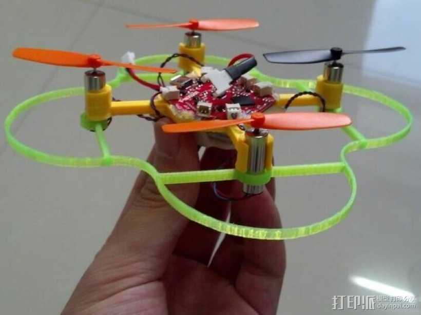 FlexBot四轴飞行器 3D打印模型渲染图