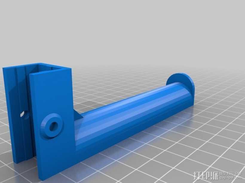 Kossel OpenBeam打印机线轴支架 3D打印模型渲染图