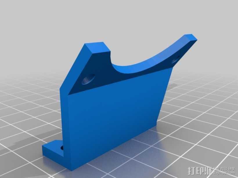 MakerGear打印机风扇支架 3D打印模型渲染图