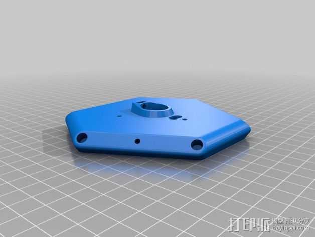 Delta 式打印机框架连接器 3D打印模型渲染图