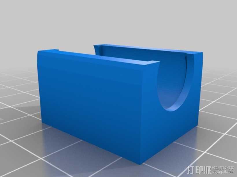 LM8UU线性轴承支架 3D打印模型渲染图