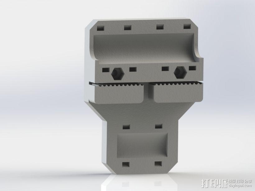 i3打印机X轴皮带固定器 3D打印模型渲染图