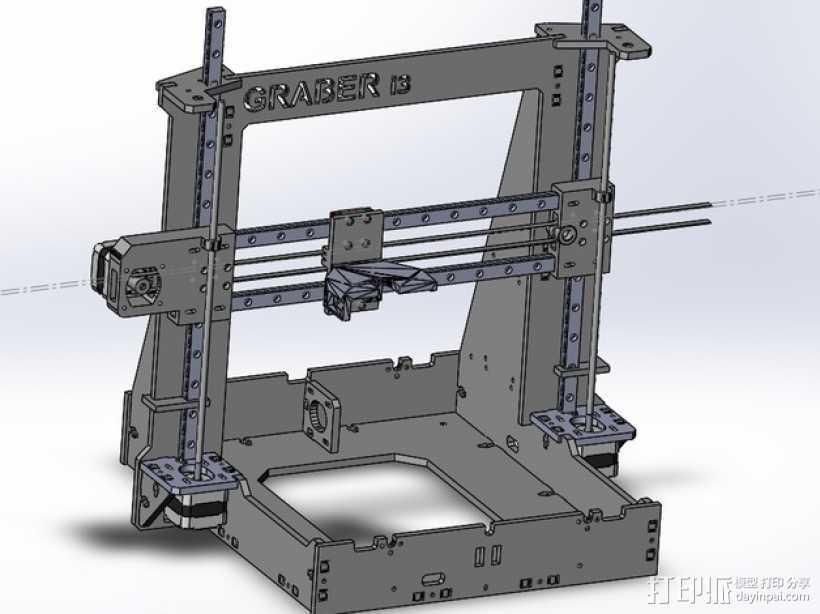 Graber i3打印机 3D打印模型渲染图