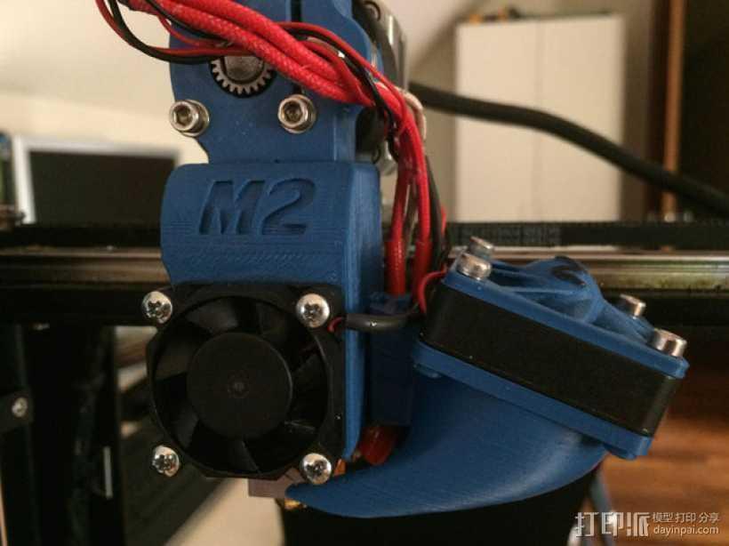 makergear m2打印机送料器和风扇导管 3D打印模型渲染图