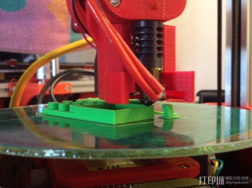 Mini Kossel挤出机导管 3D打印模型渲染图