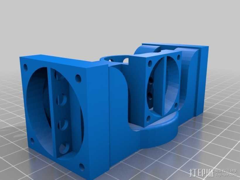 Prusa i3 打印机 J-Head式喷头散热系统 3D打印模型渲染图