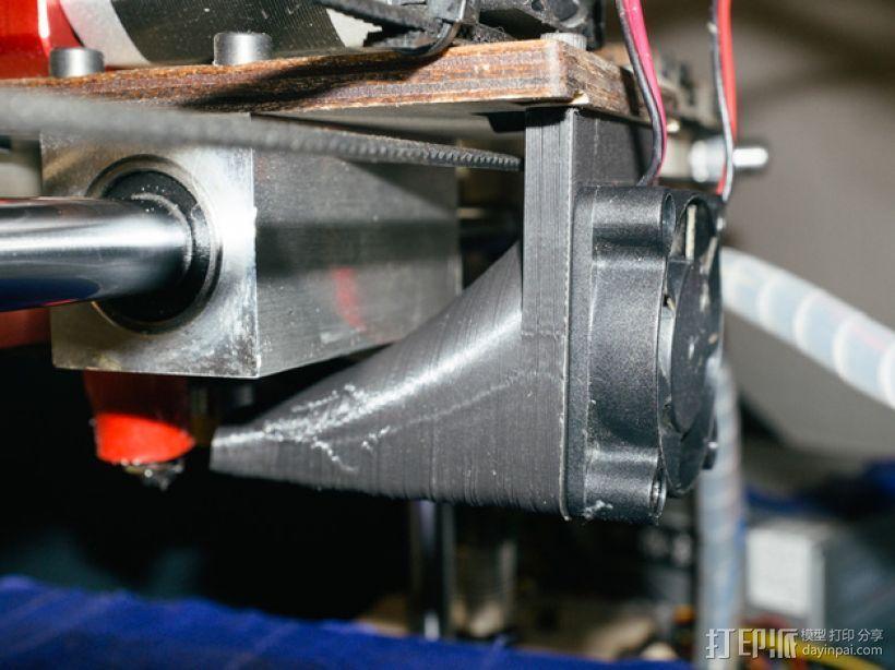 Printrbot打印机风扇罩 3D打印模型渲染图