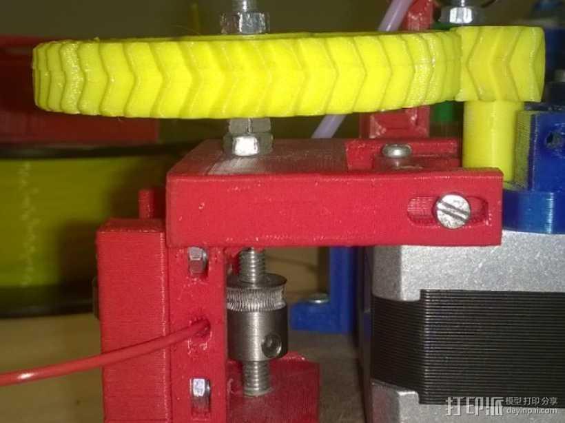 MK7齿轮挤出机  3D打印模型渲染图