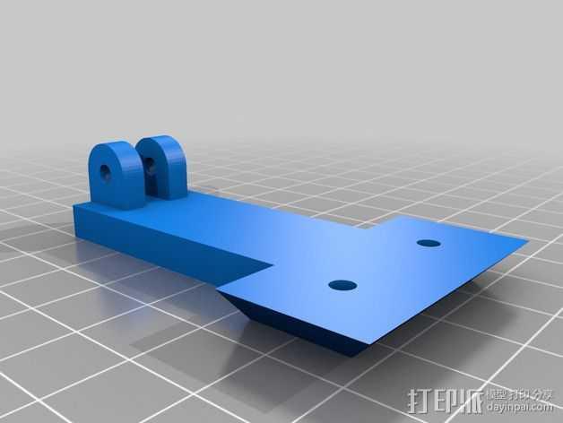智能控制器显示屏支架 3D打印模型渲染图
