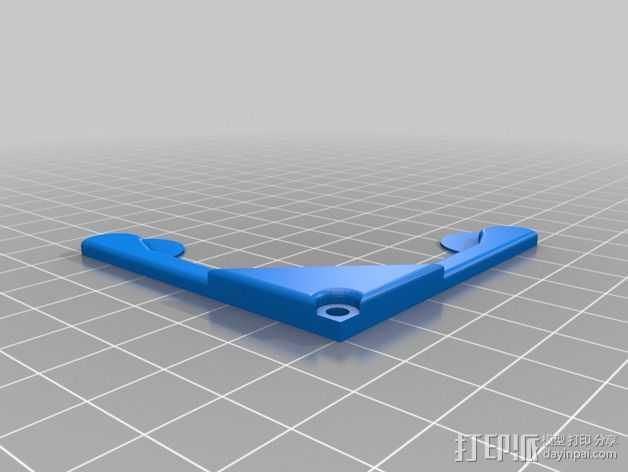 Prusa i3打印床玻璃板支撑器 3D打印模型渲染图