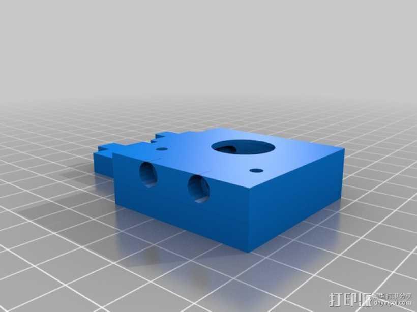 J-Head式喷嘴支架 3D打印模型渲染图
