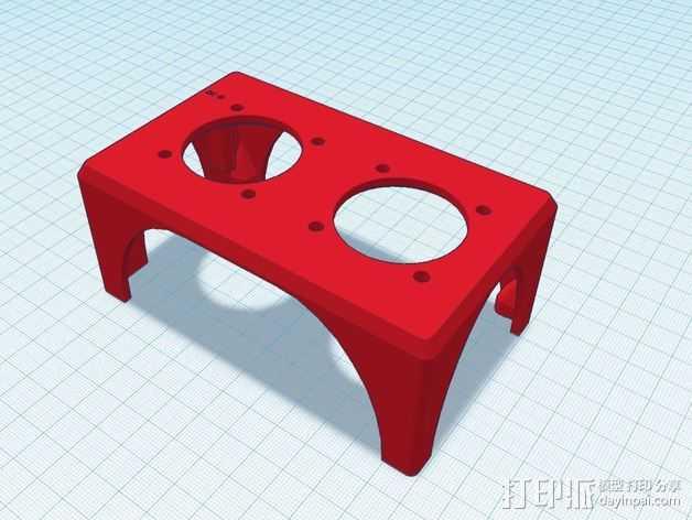 K8200 风扇支架 3D打印模型渲染图