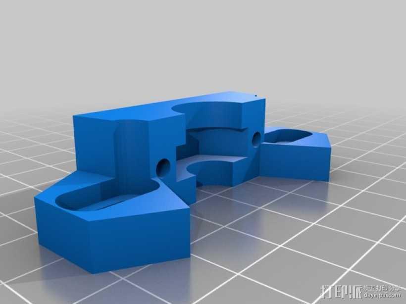 耦合器支架 3D打印模型渲染图