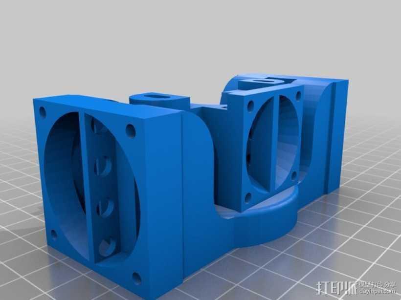 挤出机J-Head/object式喷头散热装置 3D打印模型渲染图