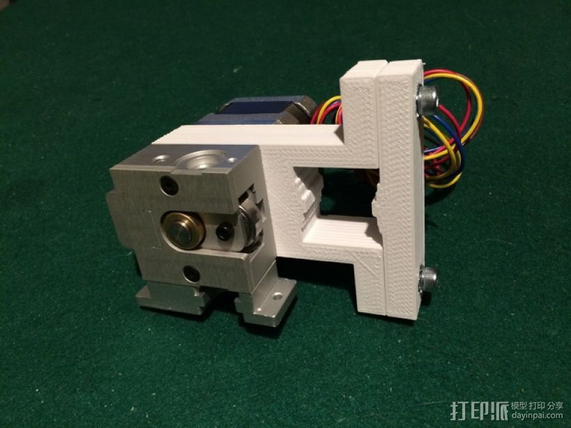 K8200/3drag打印机的挤出机支架 3D打印模型渲染图