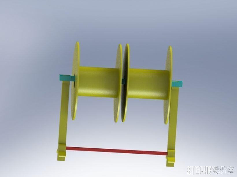 Robo 3D打印机的线轴支撑架 3D打印模型渲染图
