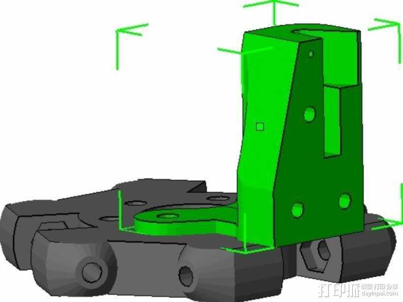 Kossel Mini打印机的取消探针 3D打印模型渲染图