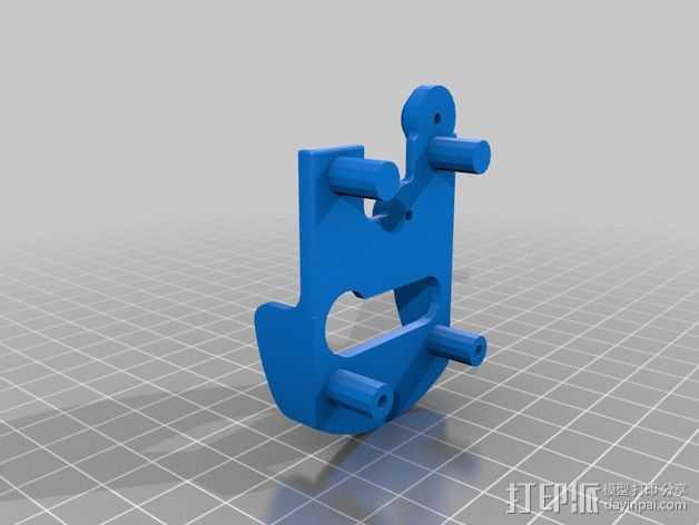 挤出机套件 替换件 3D打印模型渲染图