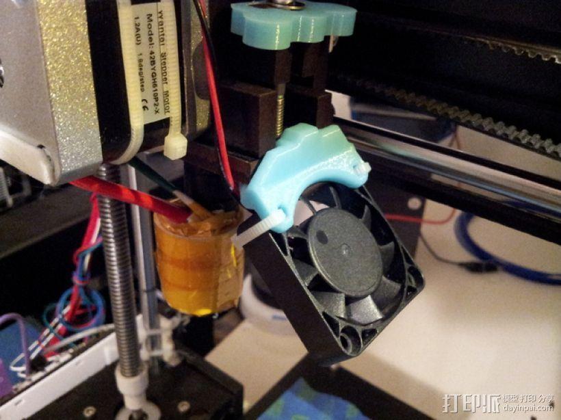 QU-BD打印机风扇支架  3D打印模型渲染图