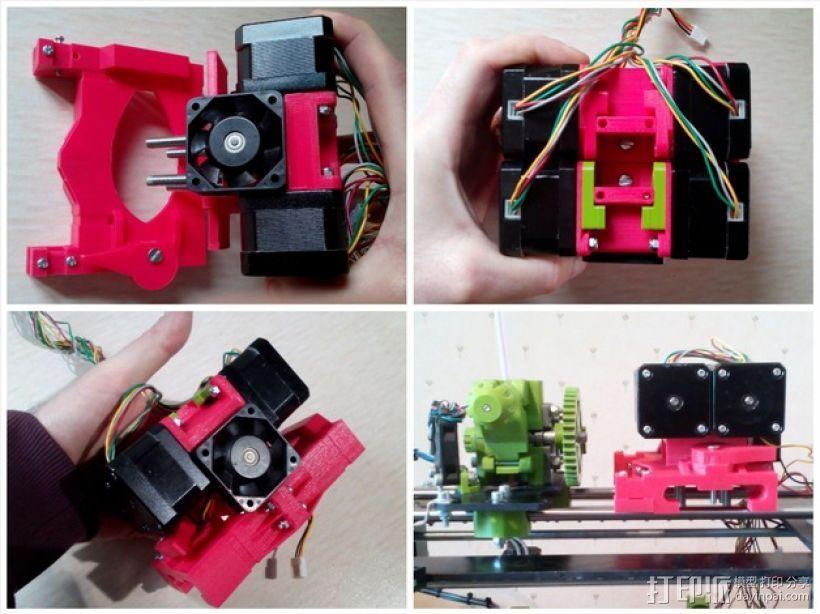 挤出机套件 3D打印模型渲染图