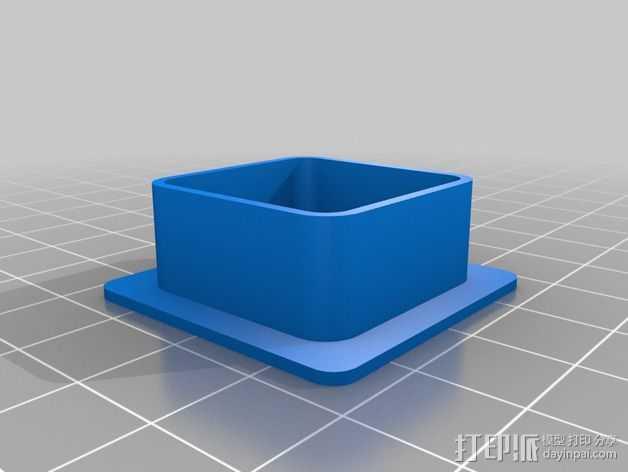 打印机金属框架盖帽 3D打印模型渲染图