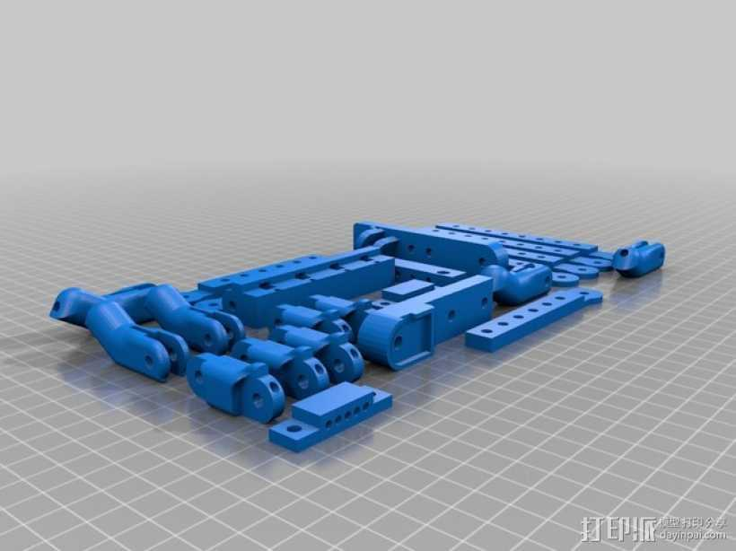 机器人手臂 机械臂 3D打印模型渲染图