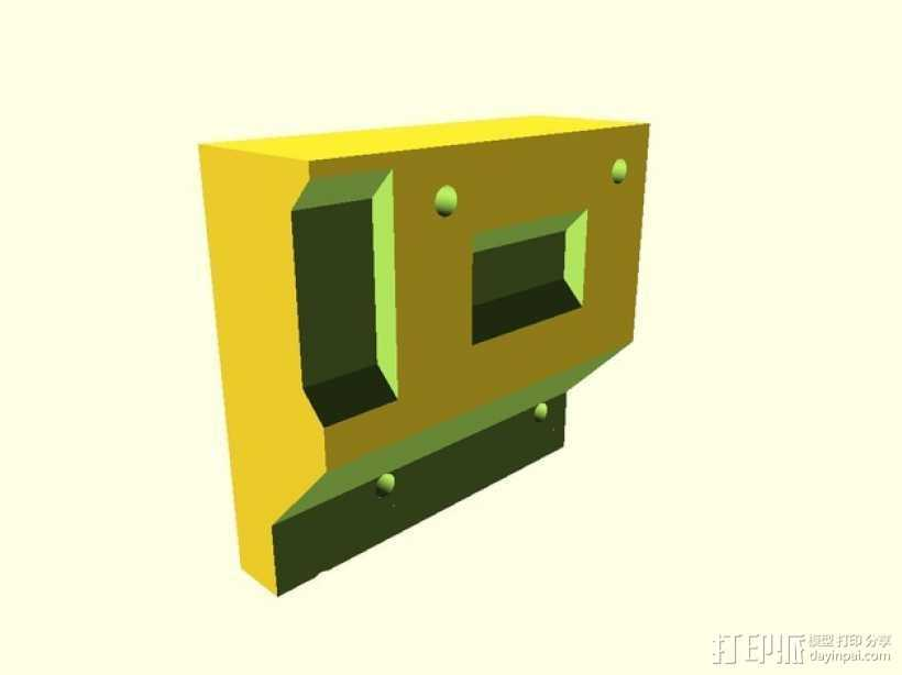 QU-BD One Up / Two Up打印机X轴限位开关支架 3D打印模型渲染图