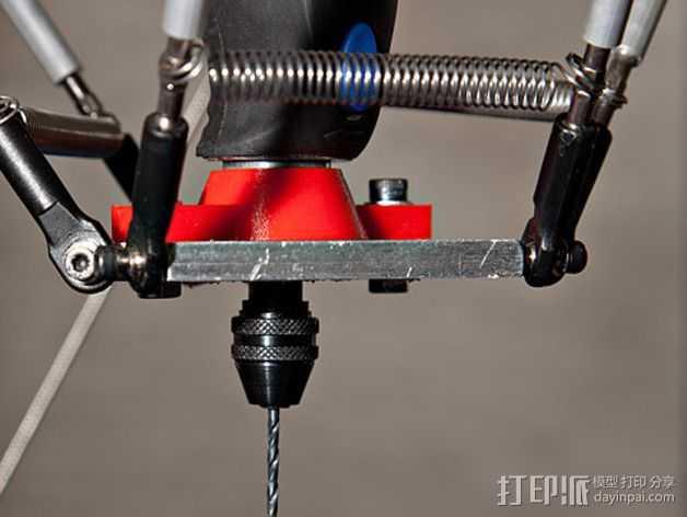 达美电摩适配器 3D打印模型渲染图
