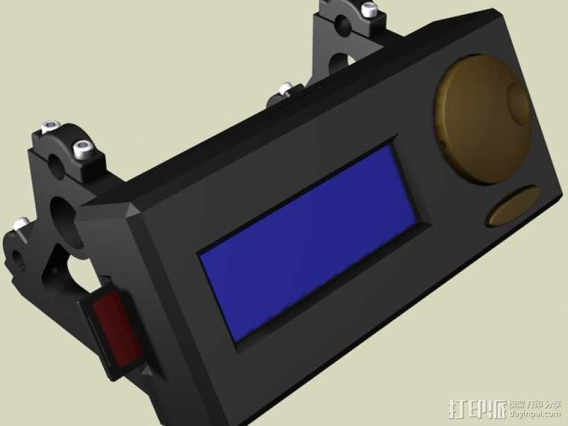控制器液晶显示屏支架 3D打印模型渲染图