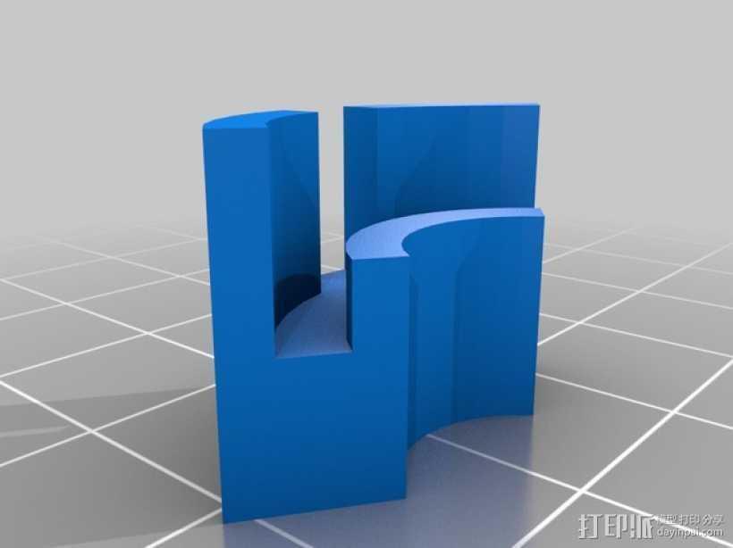 打印机垫片  3D打印模型渲染图