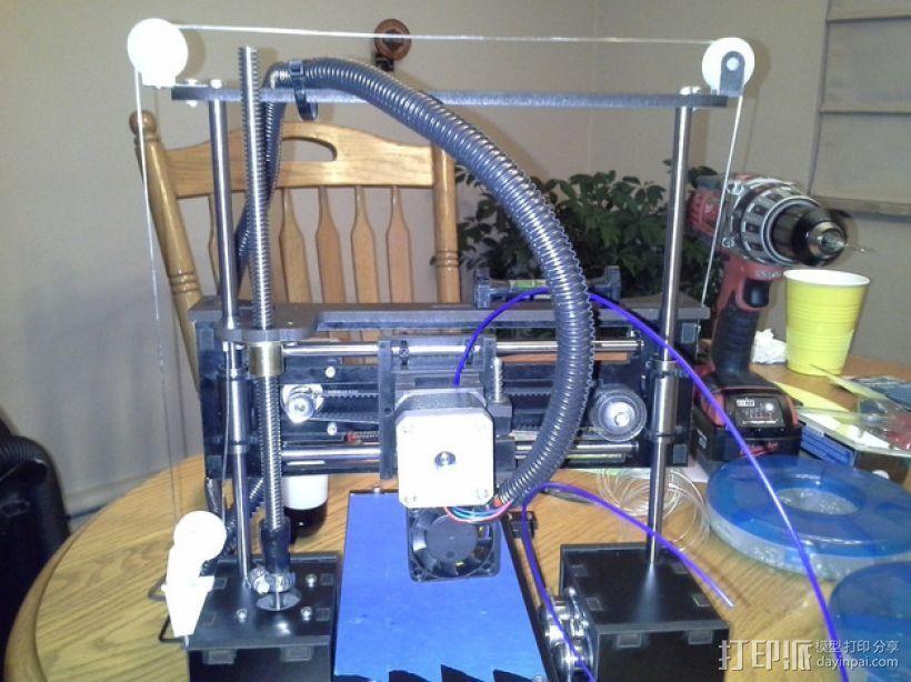 QU-BD One/Two-Up 打印机滑轮 3D打印模型渲染图