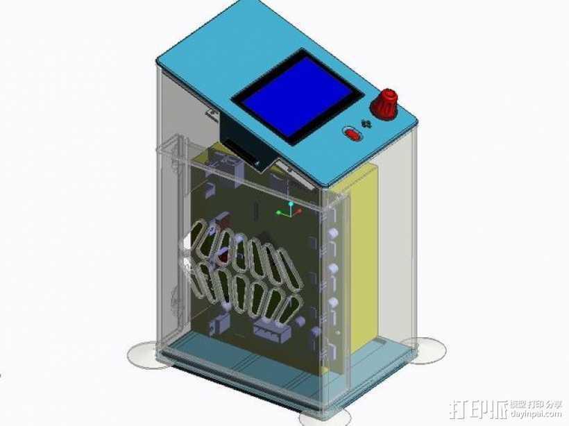 控制器保护盒 3D打印模型渲染图