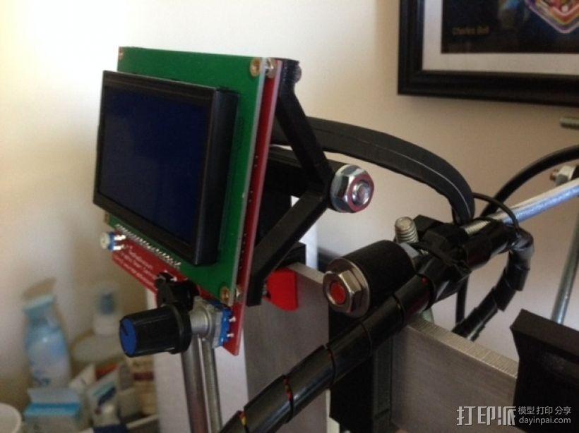 RepRep控制器液晶显示屏支架 3D打印模型渲染图