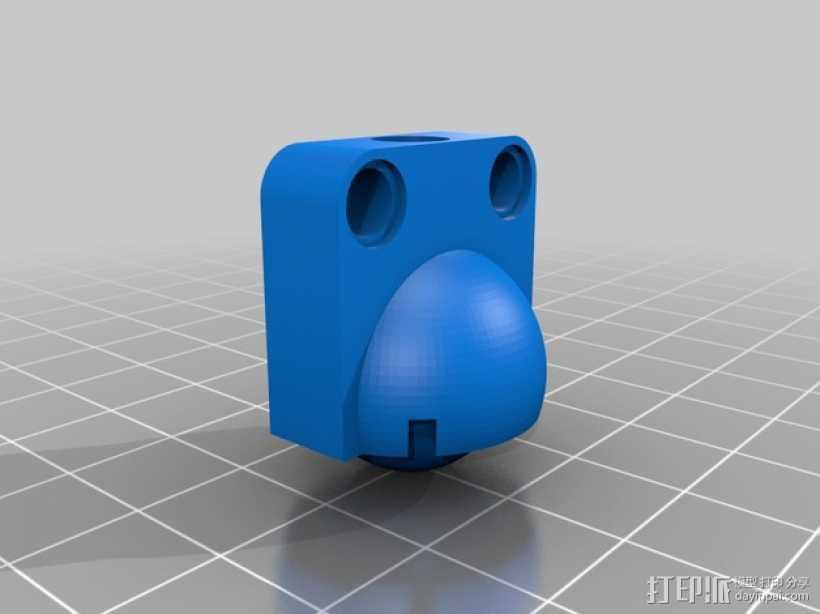 参数化滚珠轴承 3D打印模型渲染图