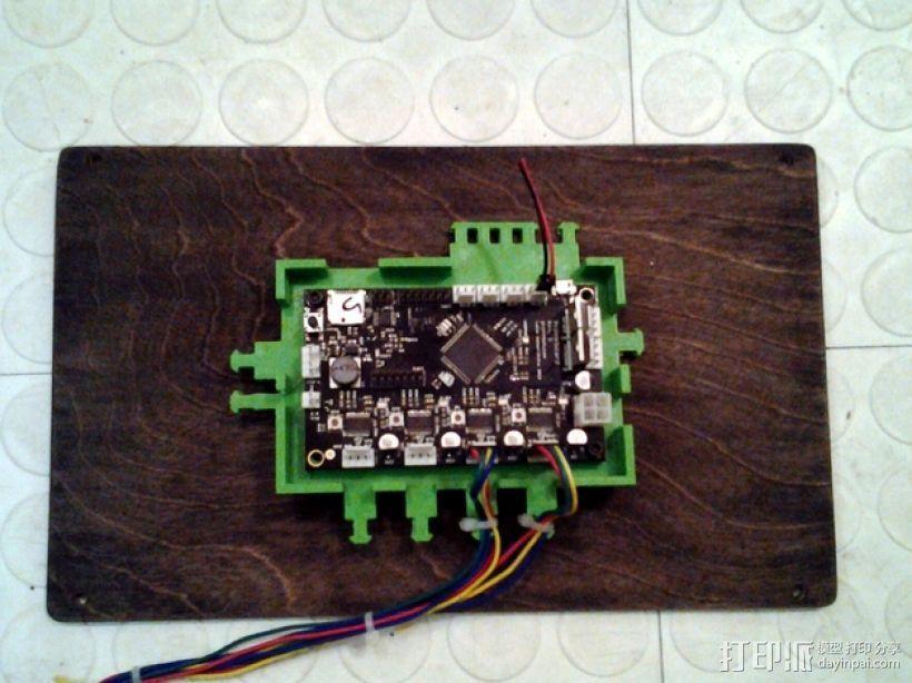 打印机电路板外罩 3D打印模型渲染图