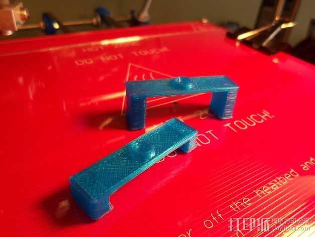桥梁校准测试  3D打印模型渲染图