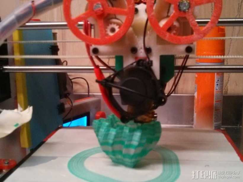 打印测试 路障 花盆 3D打印模型渲染图