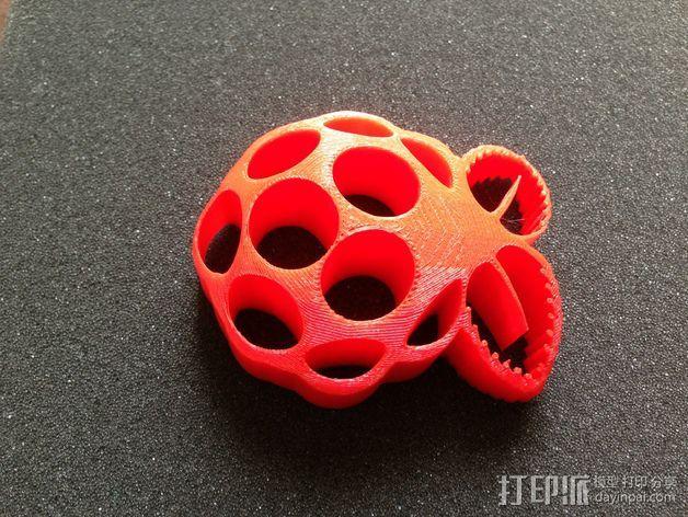 树莓派标志 3D打印模型渲染图