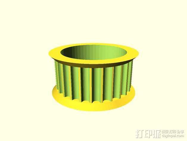 GT2皮带惰轮 3D打印模型渲染图