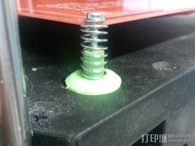 打印床减震器支撑脚 3D打印模型渲染图