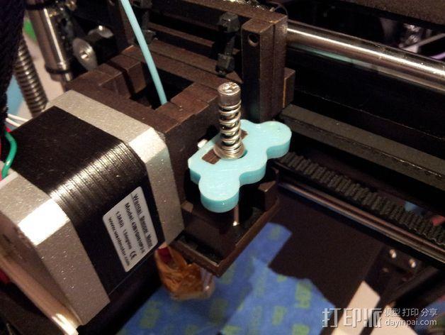 弹簧板 把柄 3D打印模型渲染图
