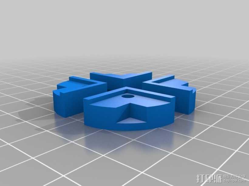 热床玻璃板夹 3D打印模型渲染图