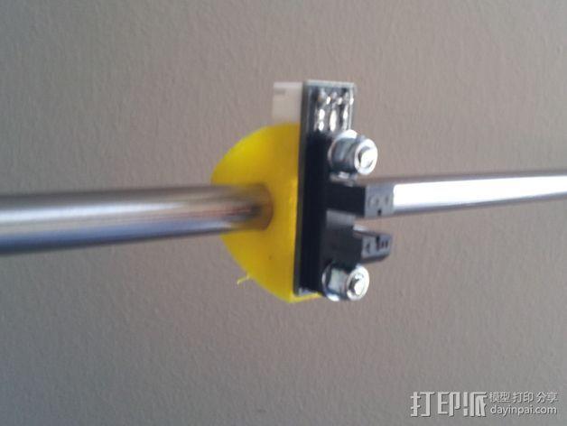 限位开关支架 3D打印模型渲染图