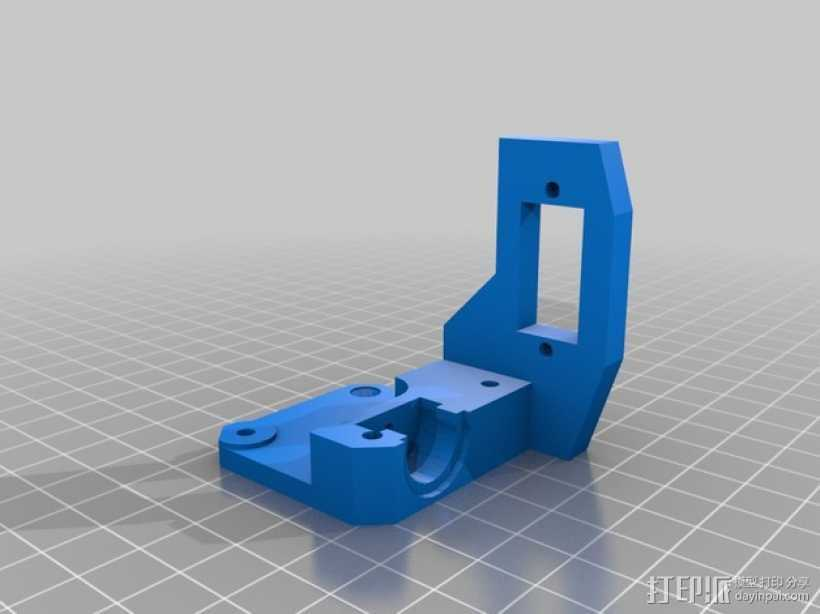 Prusa i3打印机X轴马达支架 3D打印模型渲染图