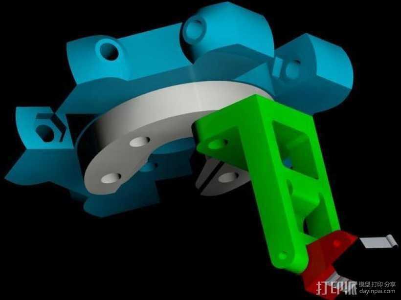 自动调平取消探针 3D打印模型渲染图