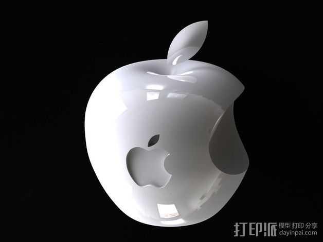 3D 苹果Logo 3D打印模型渲染图