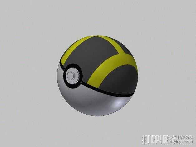 口袋妖怪 精灵球 3D打印模型渲染图