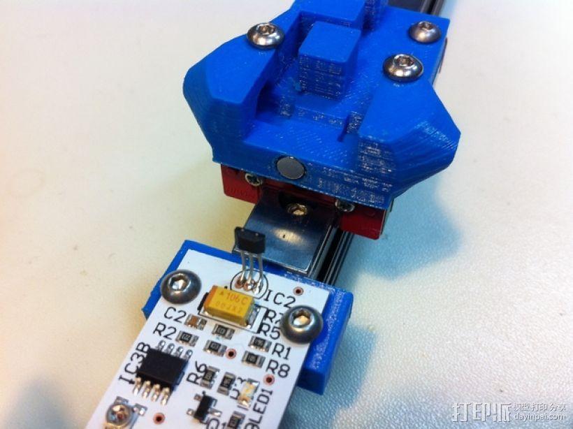 打印机限位开关 感应器支架 3D打印模型渲染图