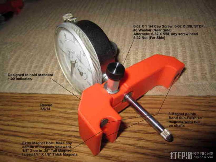 MakerBot Replicator 2打印机指示器支架 3D打印模型渲染图