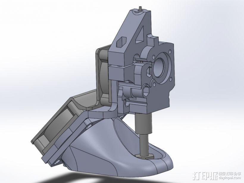 MakerGear M2 挤出机风扇支架 风扇通风导管 3D打印模型渲染图